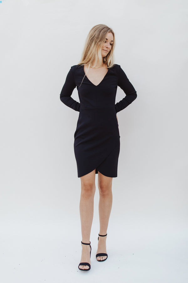 Long Sleeve Black Dress - Traveling Chic Boutique, VA