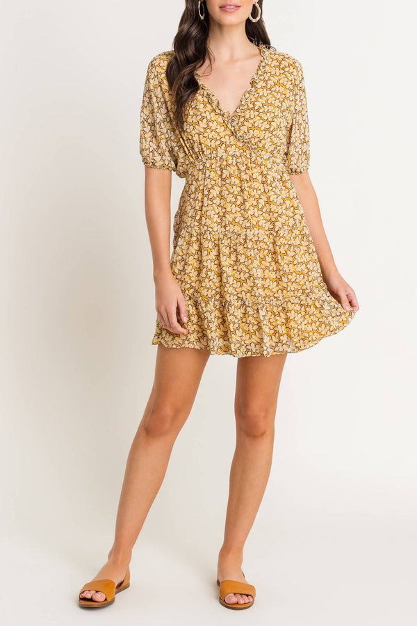 Printed Frill Mini Dress - Traveling Chic Boutique, VA