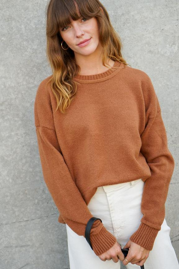Ribbed Hem Knit Sweater