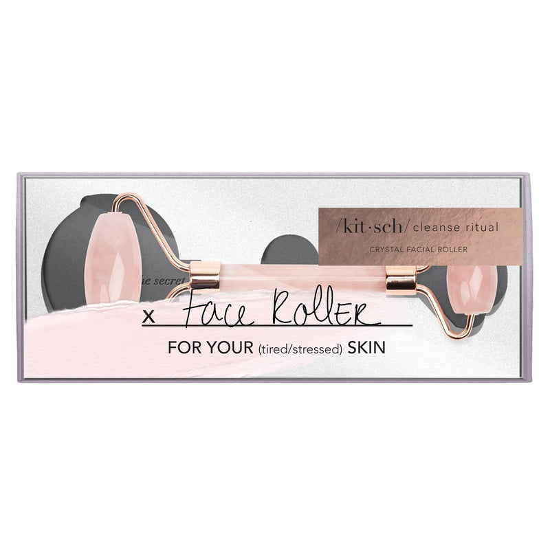 Rose Quartz Crystal Facial Roller - Traveling Chic Boutique, VA