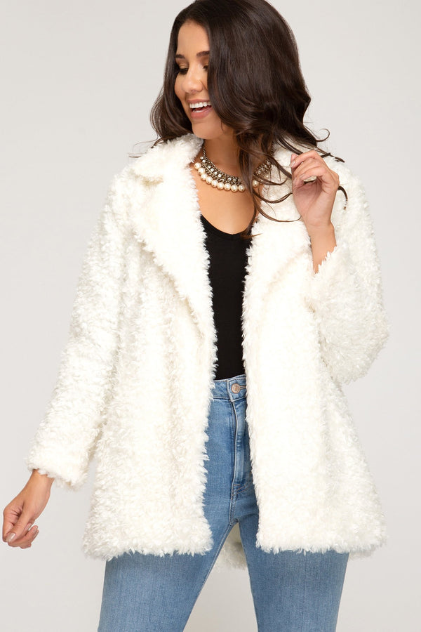 White Teddy Bear Jacket