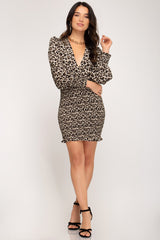 Long Sleeve Surplice Dress - Traveling Chic Boutique, VA