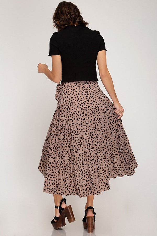 Mocha Cheetah Wrap Skirt - Traveling Chic Boutique, VA