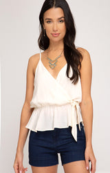 Sleeveless Front Tie Tank - Traveling Chic Boutique, VA