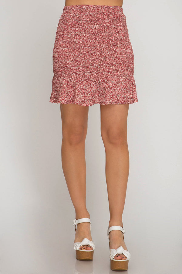 Smocked Skirt - Traveling Chic Boutique, VA