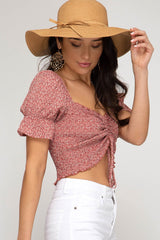 Cinched Crop Top