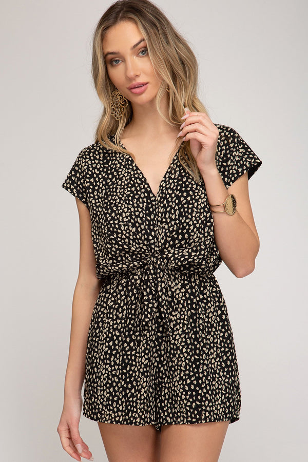 Leopard Romper - Traveling Chic Boutique, VA