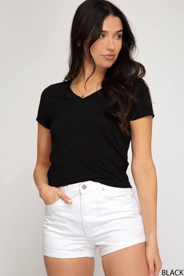 V-Neck Tee - Traveling Chic Boutique, VA
