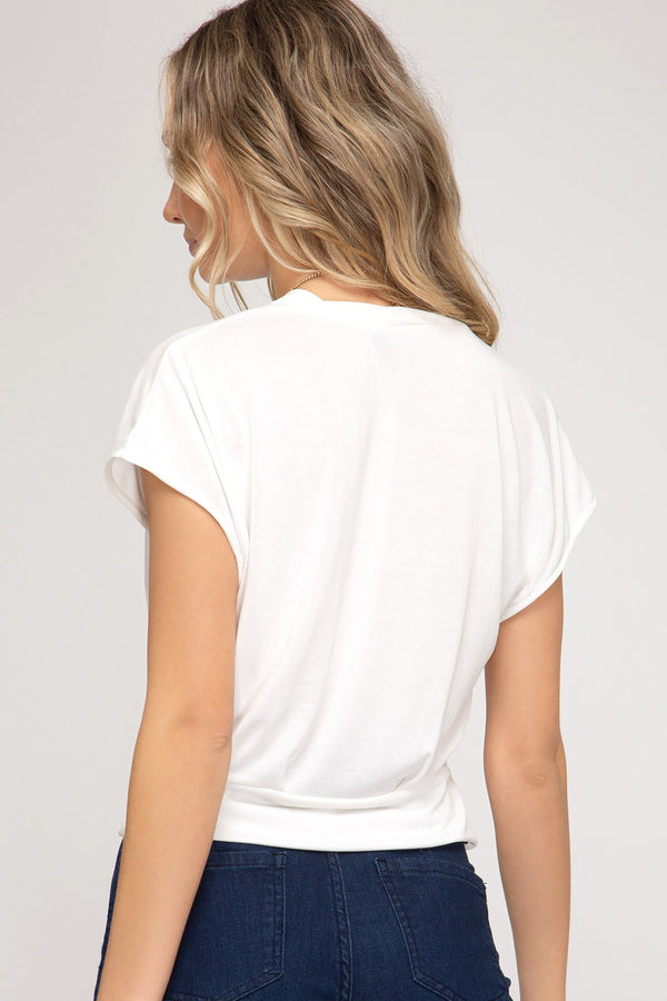 White Modal Cupro Top - Traveling Chic Boutique, VA