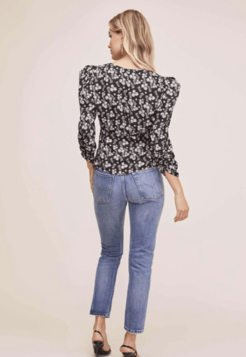 Shirred Floral Top - Traveling Chic Boutique, VA