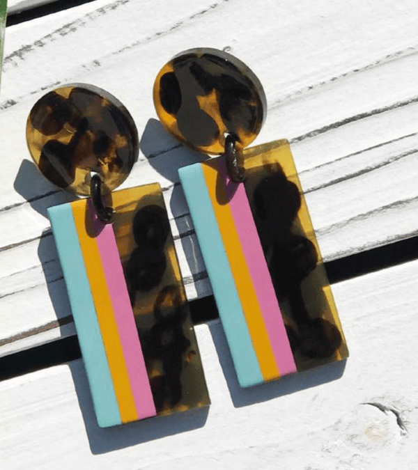 Mango Swirl Cabana Earrings