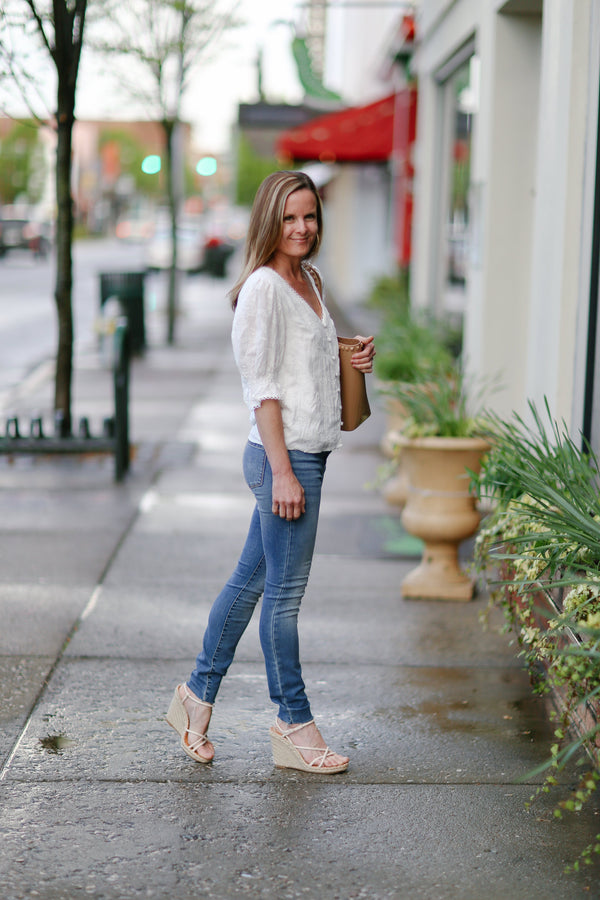 Floria Embroidered Top - Traveling Chic Boutique, VA