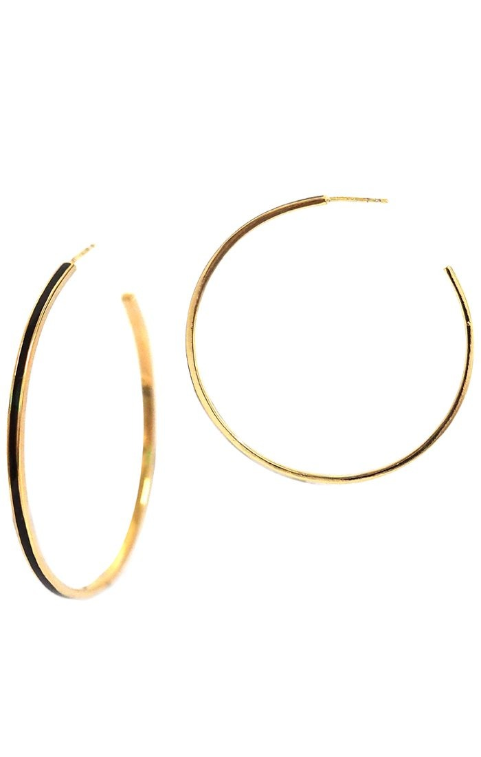 Large Enamel Hoops - Traveling Chic Boutique, VA