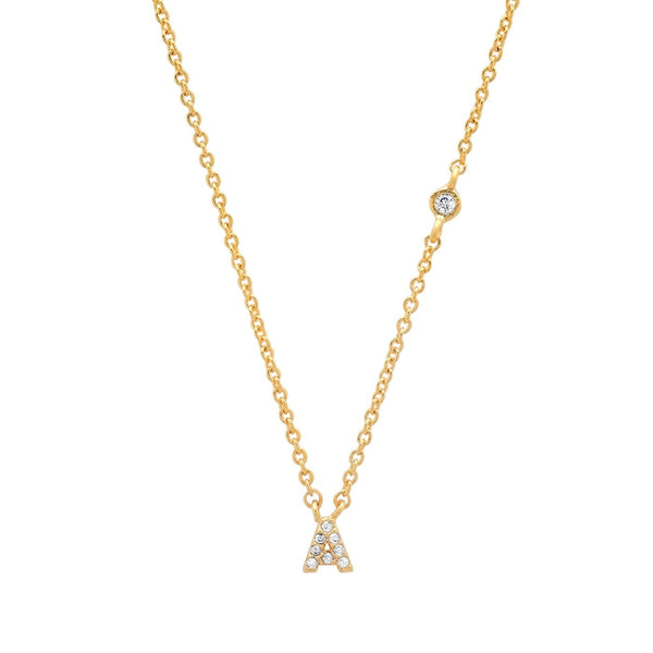 Gold Initial Necklace - Traveling Chic Boutique, VA