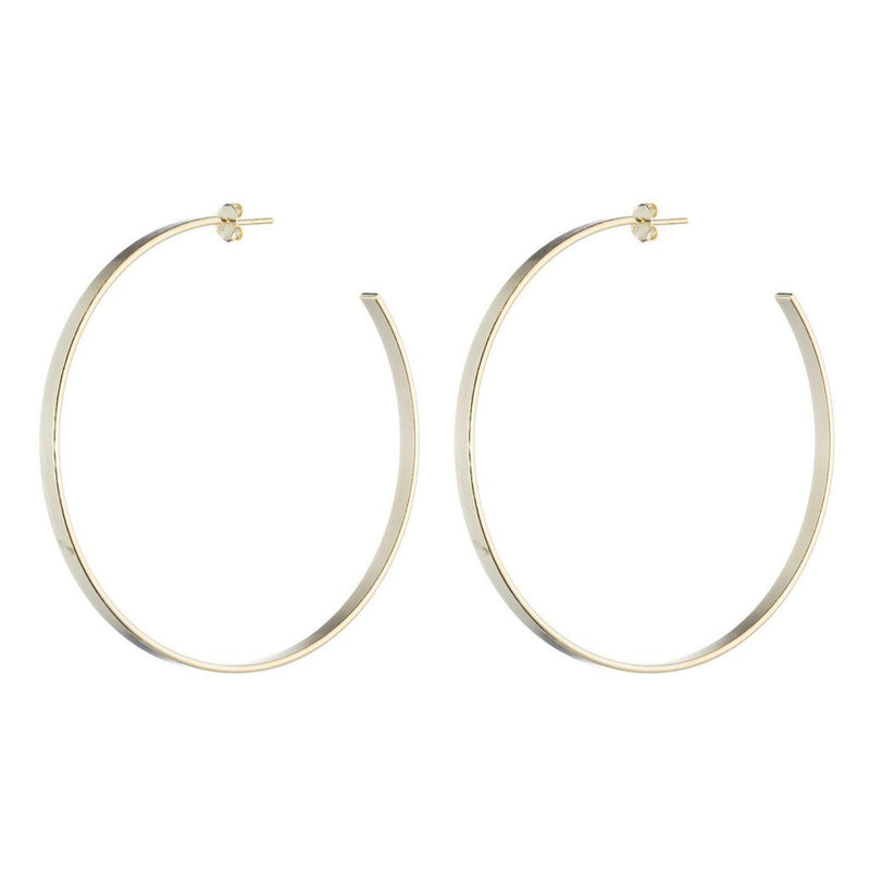 Thin Flat Hoops - Traveling Chic Boutique, VA
