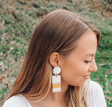 Rose Layered Cabana Earring