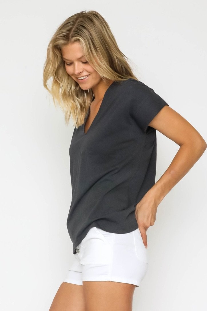 V Neck Tee - Traveling Chic Boutique, VA