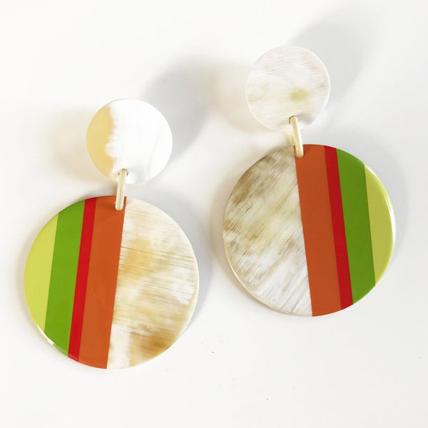 Tequila Sunrise Stripe Large Earrings