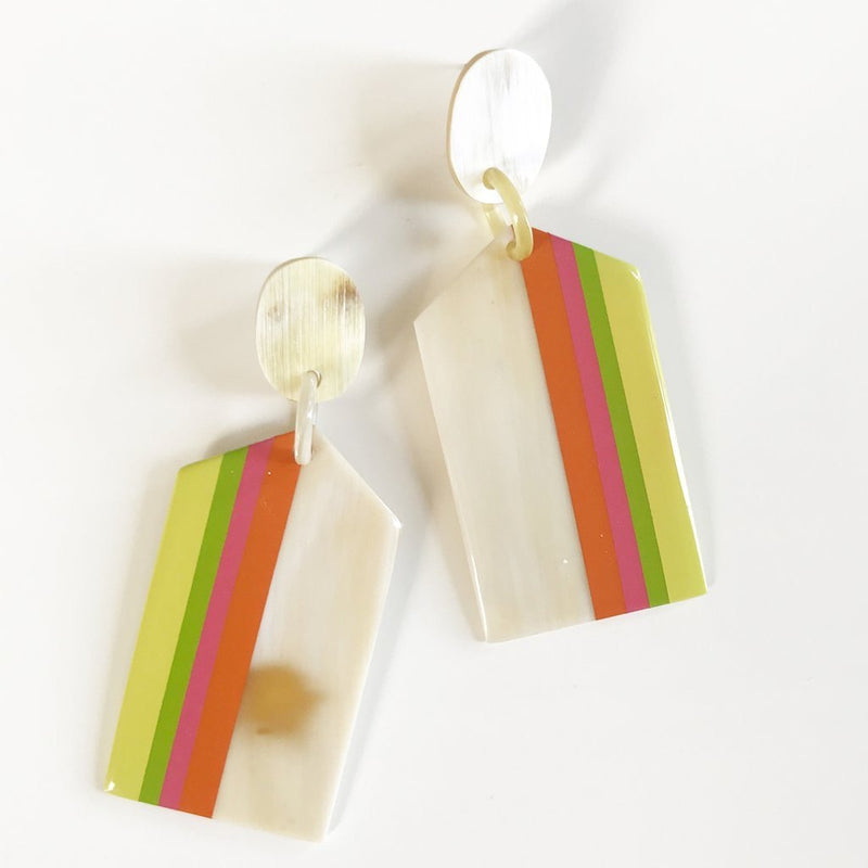 Tequila Sunrise Cabana Earrings - Traveling Chic Boutique, VA
