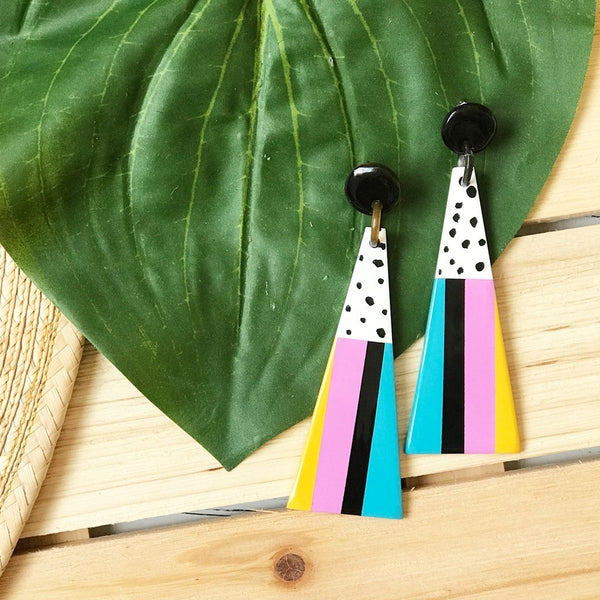Ice Cream Umbrella Earrings