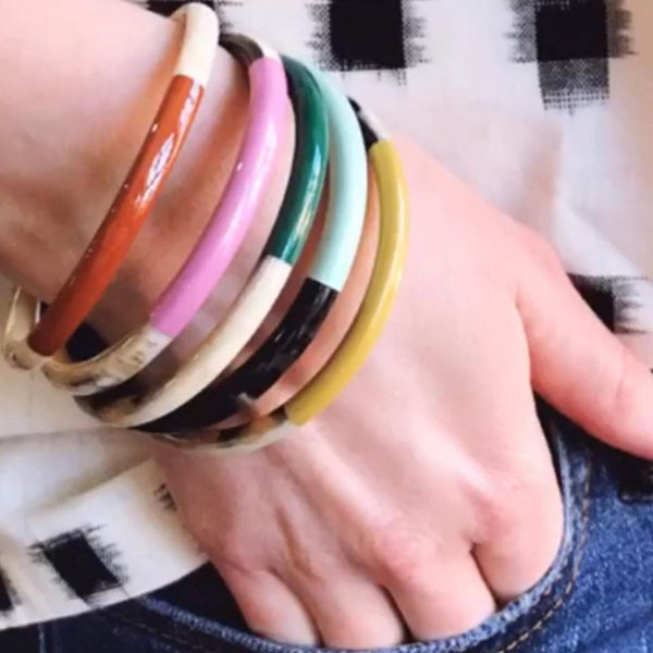 Colorful Horn Bangle Set