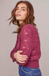 Audura Pointelle Sweater - Traveling Chic Boutique, VA
