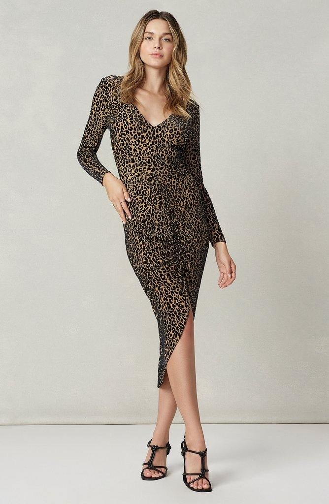 Burnout Leopard Dress