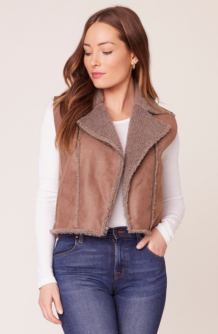 Faux Suede Vest - Traveling Chic Boutique, VA