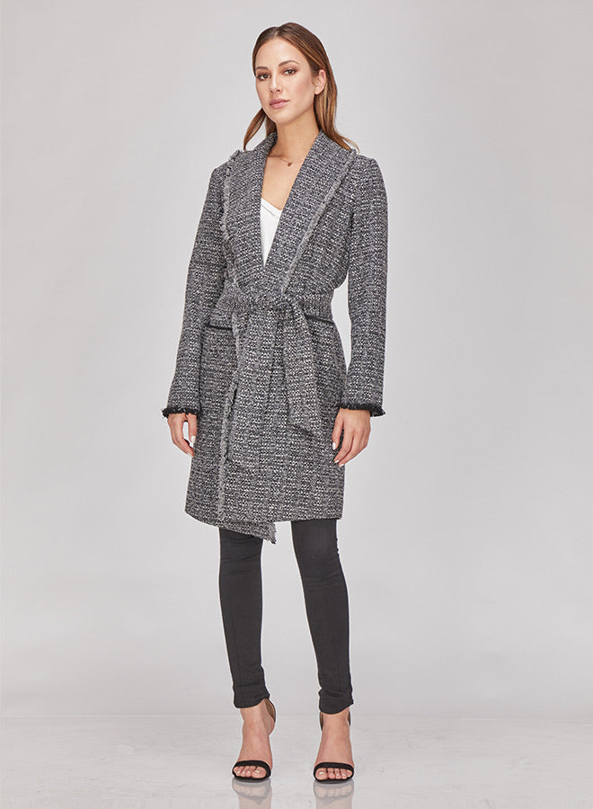 Veronica Boucle Knit Coat
