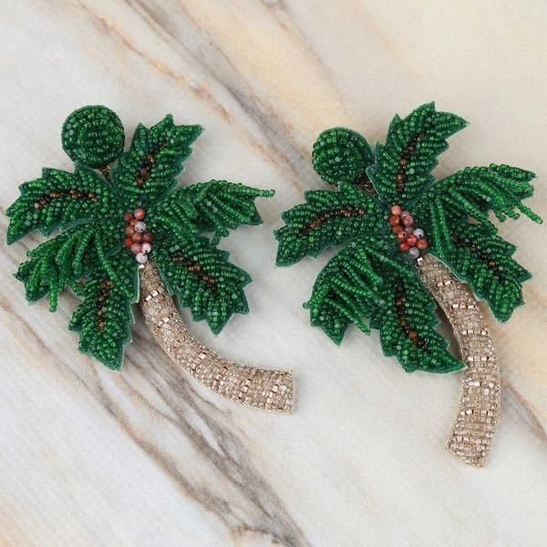 Palm Tree Earrings - Traveling Chic Boutique, VA