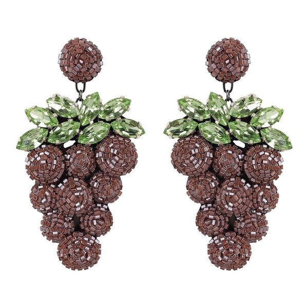 Grape Earrings - Traveling Chic Boutique, VA