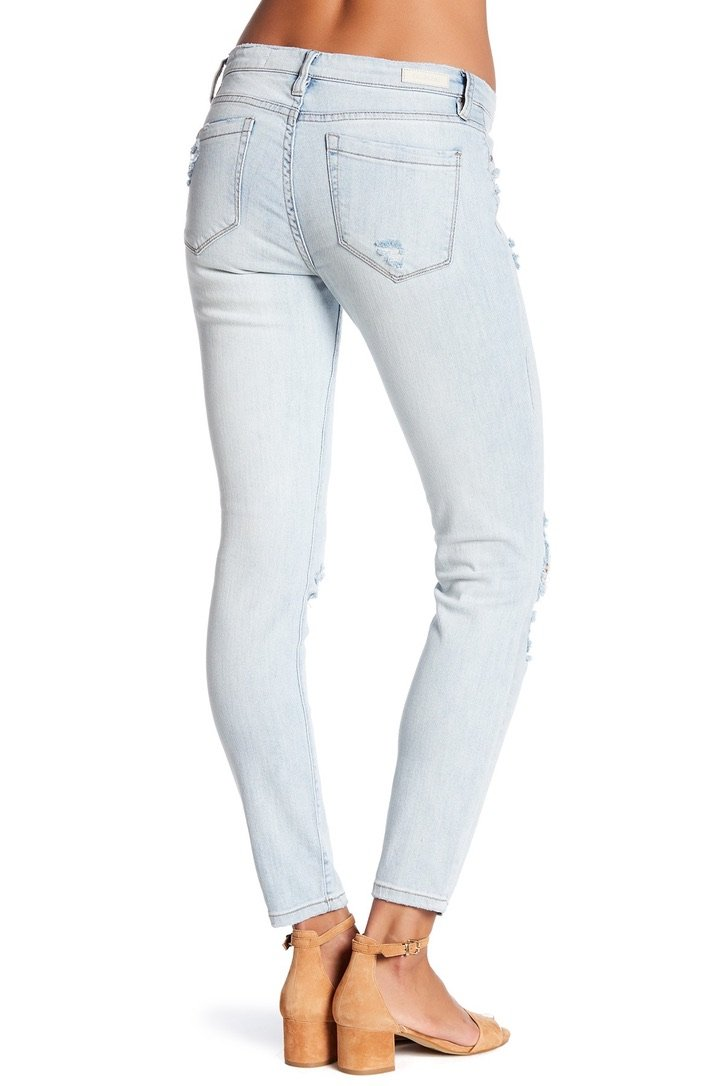 Sun Stroked Distressed Skinny Jeans - Traveling Chic Boutique, VA