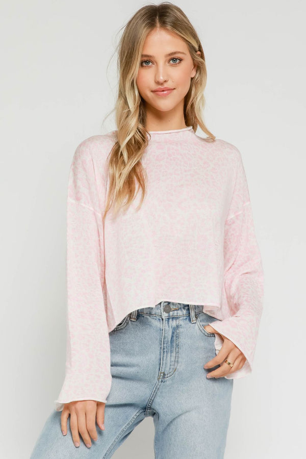 Pink Leopard Sweater