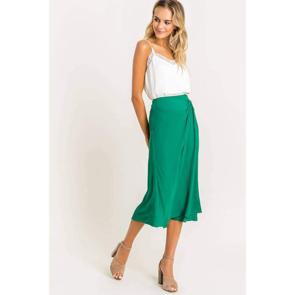 Knot Midi Skirt - Traveling Chic Boutique, VA
