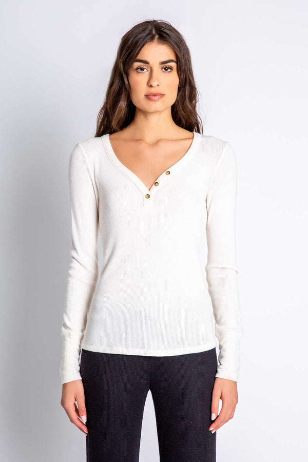 Textured Basic Long Sleeve Top
