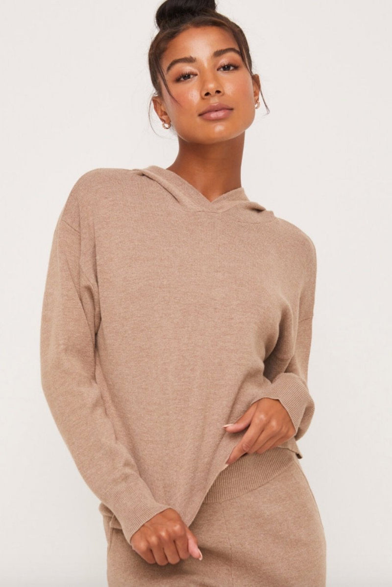 Taupe Hoodie - Traveling Chic Boutique, VA