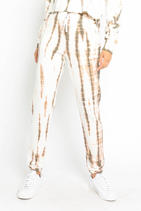 Brown Tie Dye Joggers - Traveling Chic Boutique, VA