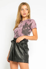 Short Sleeve Purple Crop - Traveling Chic Boutique, VA