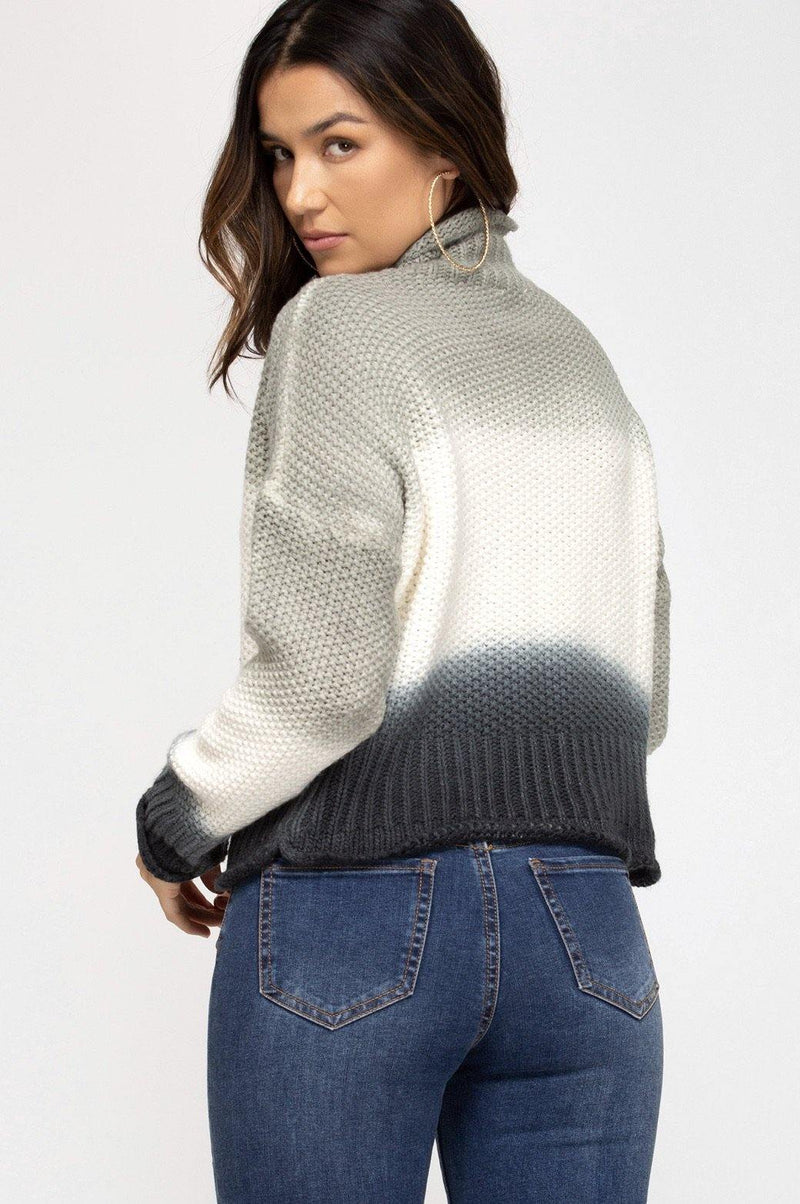 Dip Dyed Knit Sweater