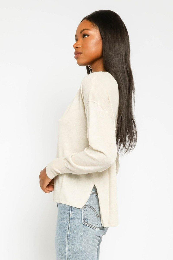 V Neck Lightweight Sweater