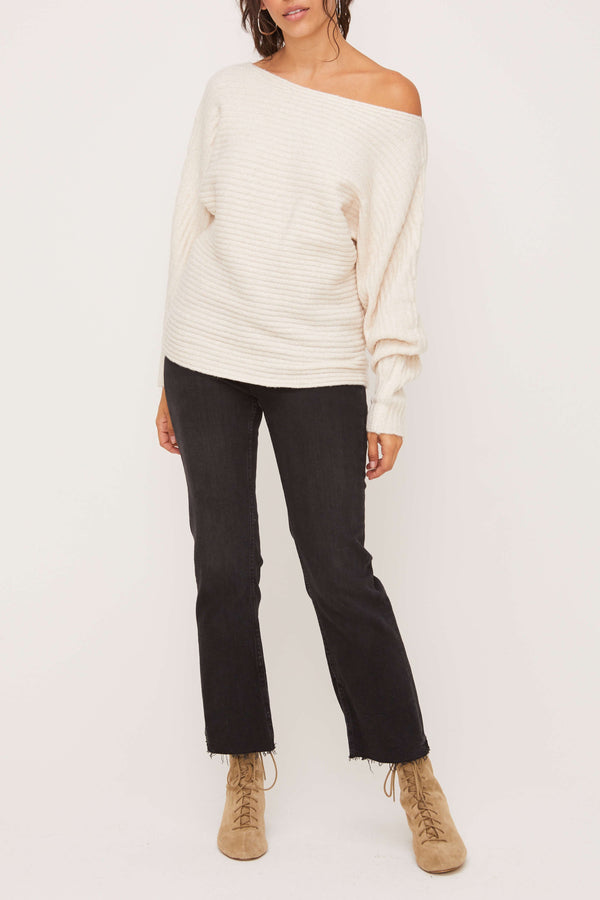 Asymmetric Shoulder Sweater - Traveling Chic Boutique, VA
