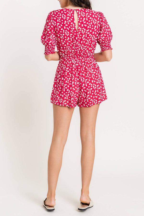 Floral Romper - Traveling Chic Boutique, VA