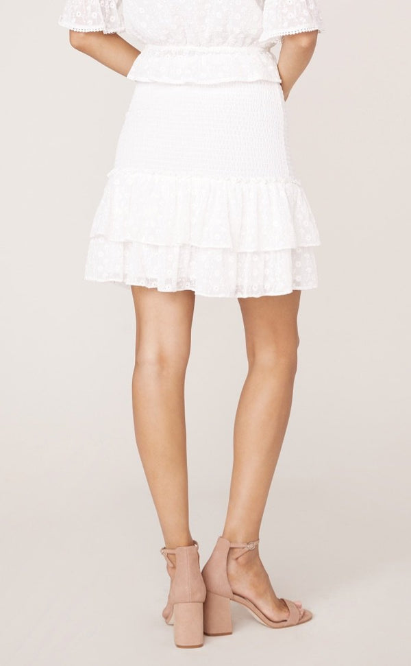 Smocked Mini Skirt