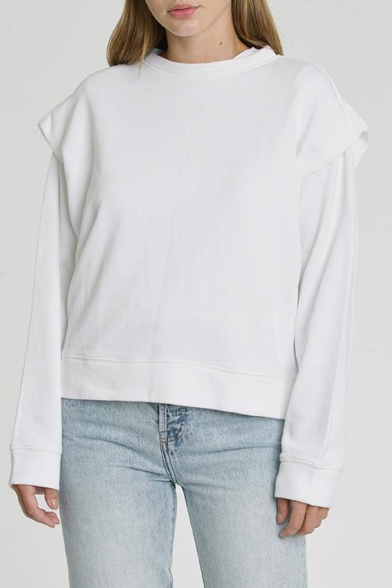 Lenora Sweatshirt in Le Blanc - Traveling Chic Boutique, VA