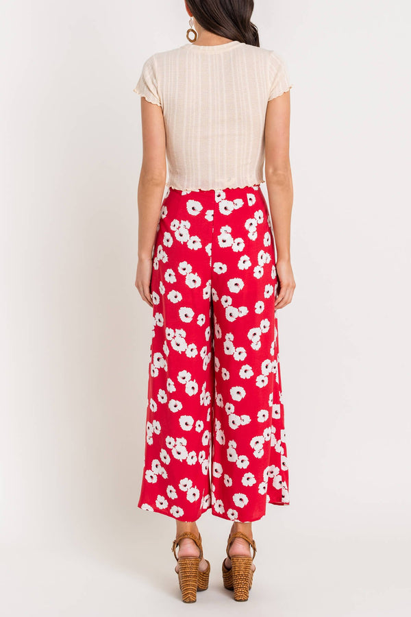 Red Wide Leg Pant