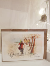 Load image into Gallery viewer, Delivering Christmas- Postie Occassion Card - Rose Hurles Art