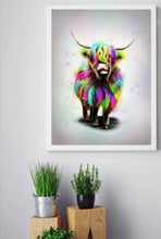 Load image into Gallery viewer, Morris the Heelan Coo - Fine Art Poster/Fine Art Print - Rose Hurles Art