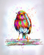 Load image into Gallery viewer, 'coloursplash Robin' - Fine Art Poster/Fine Art Print - Rose Hurles Art