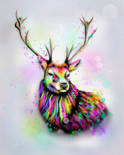 Sileas the stag - Fine Art Poster/Fine Art Print - Rose Hurles Art