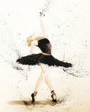 Load image into Gallery viewer, Black Ballerina- Occasion Card - Rose Hurles Art